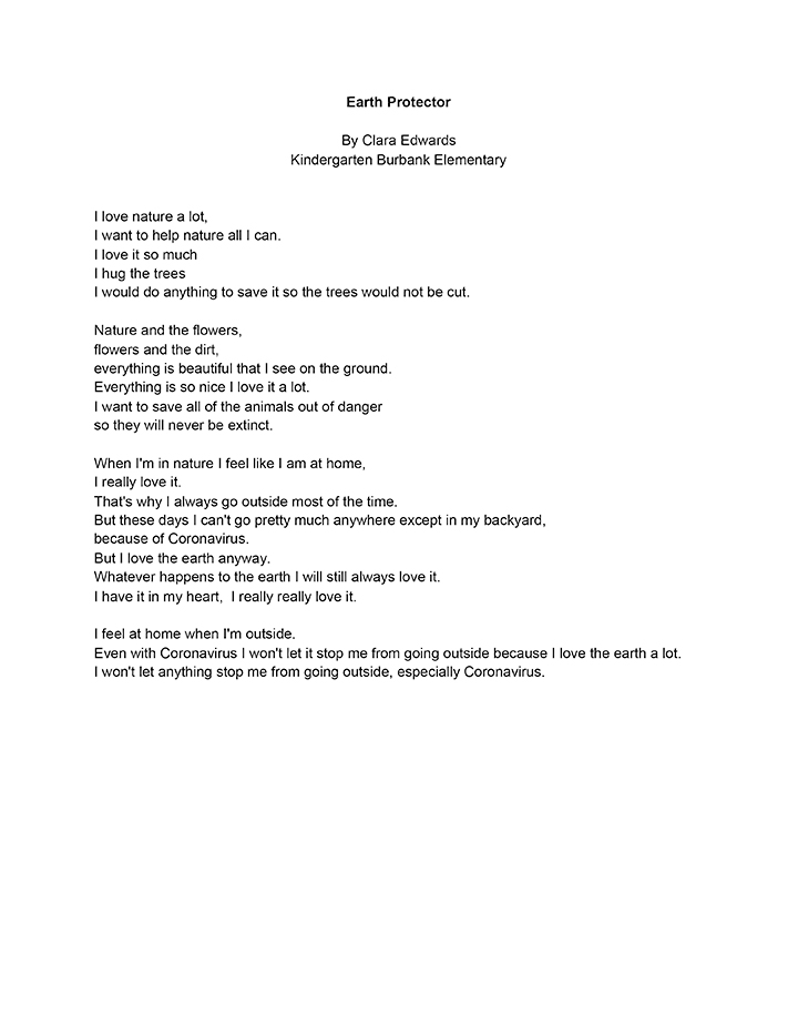 Text of second place winning entry for K-1 category