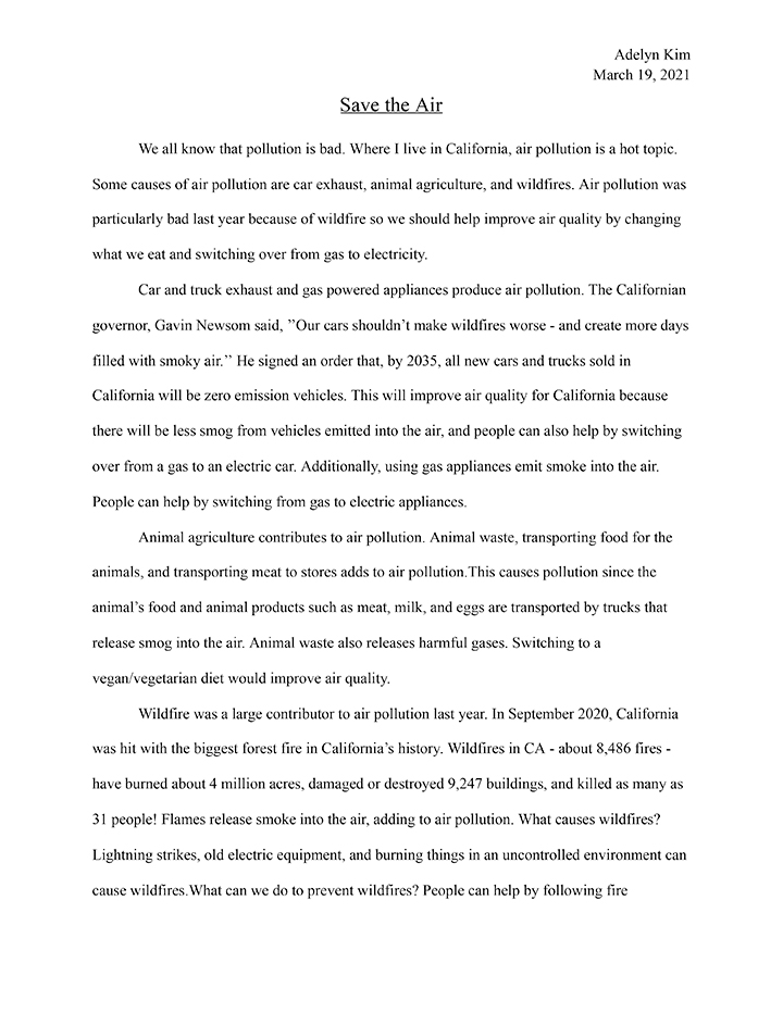 Text of first place winning poem in the 4-5 category