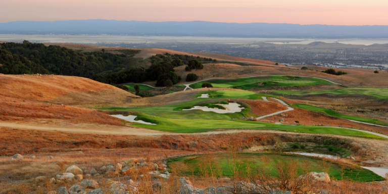 Stonebrae Golf Course at sunset