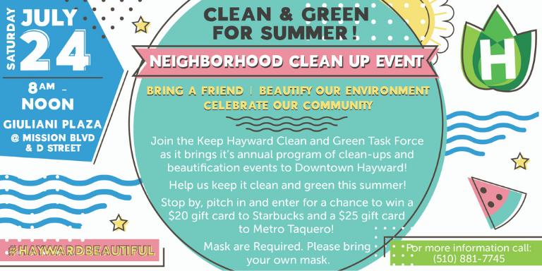 Keep Hayward Clean and Green Flyer
