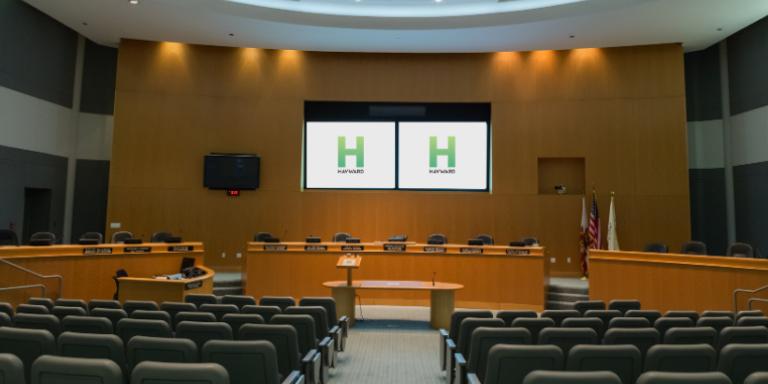 Photo of City Hall chamber.