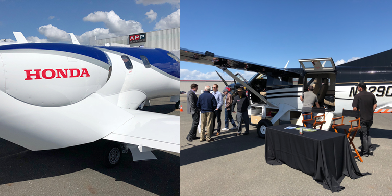 Planes at the Aircraft expo