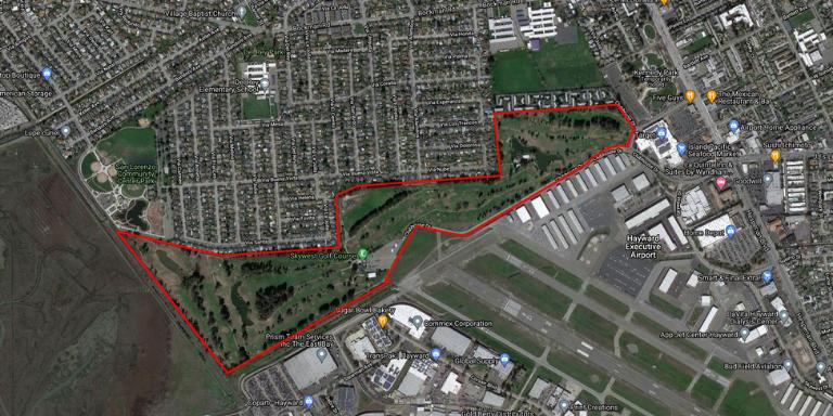 Hayward Airport Skywest Map