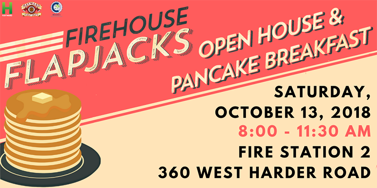 Orange-red Firehouse Flap Jacks Flyer