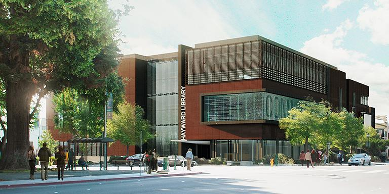 Rendering of the new Hayward Library