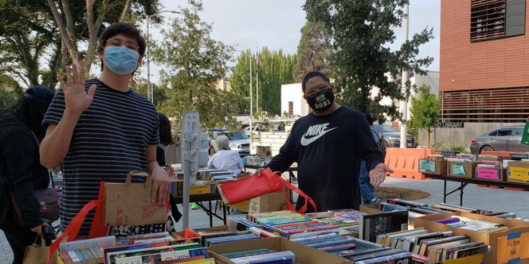 Friends of the Hayward Library working the book sale