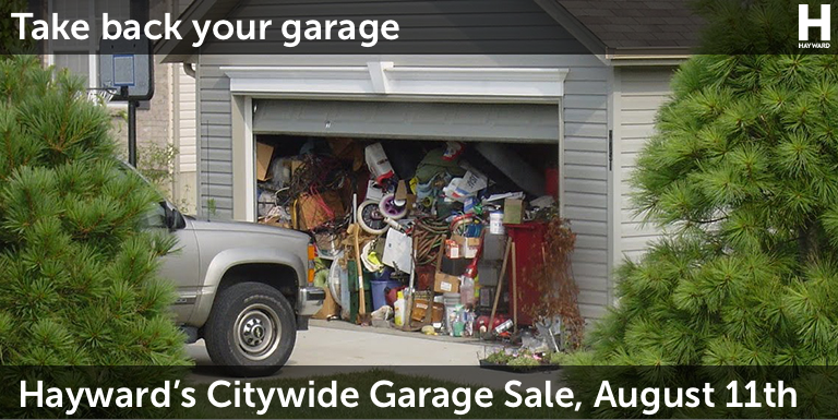 Cluttered garage with August 11, 2018