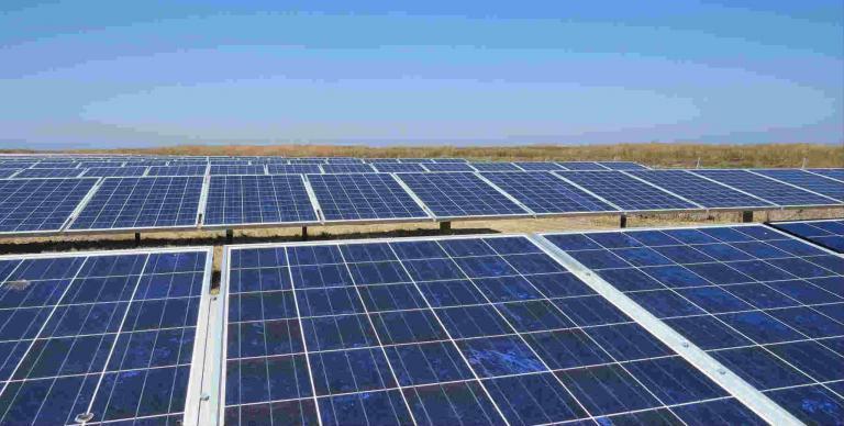 solar array at the Hayward Wastewater Treatment Plant
