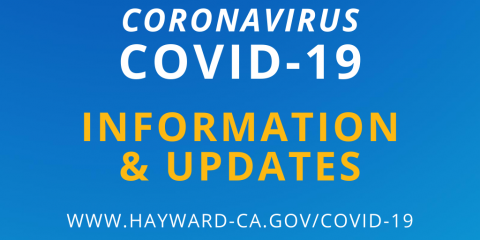 Blue banner with the words: Coronavirus COVID-19 Information and Updates